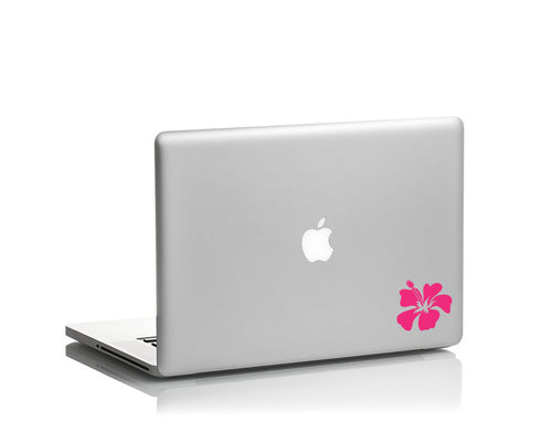 hibiscus hawaiian flower  vinyl decal on laptop