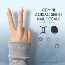 Load image into Gallery viewer, gemini zodiac nail decals