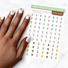 Load image into Gallery viewer, i scream for ice cream kids nail art decal sheet