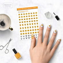 Load image into Gallery viewer, jack o lantern halloween pumpkin nail decals on table