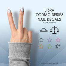 Load image into Gallery viewer, libra zodiac nail decals