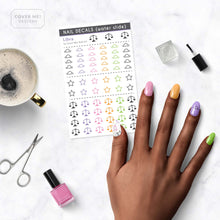 Load image into Gallery viewer, libra zodiac nail decals on table
