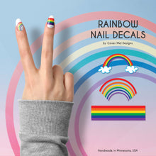 Load image into Gallery viewer, rainbow pride nail decals