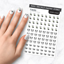 Load image into Gallery viewer, panda nail art decal sheet