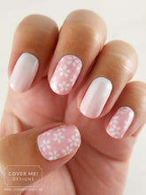 Load image into Gallery viewer, Cherry Blossoms - Sakura Flower Long Water Slide Nail Decals