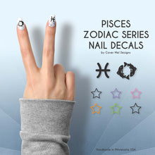 Load image into Gallery viewer, pisces zodiac nail decals