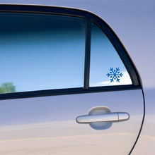Load image into Gallery viewer, snowflake vinyl decal on car window