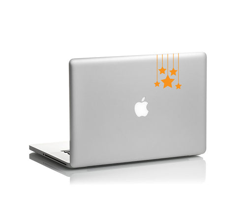 hanging star vinyl decal on laptop