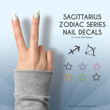 Load image into Gallery viewer, sagittarius zodiac nail decals