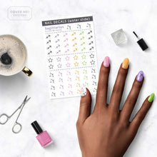 Load image into Gallery viewer, sagittarius zodiac nail decals on table