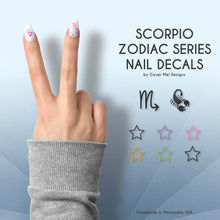 Load image into Gallery viewer, scorpio zodiac nail decals