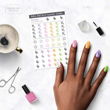Load image into Gallery viewer, scorpio zodiac nail decals on table
