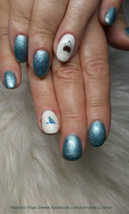 Sharks Water Slide Nail Decals