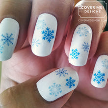 Load image into Gallery viewer, Snowflakes Child Size Water Slide Nail Decals