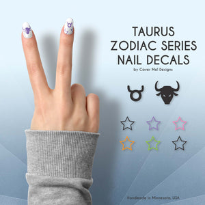 taurus zodiac series nail decals