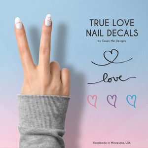 true love nail decals
