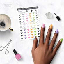 Load image into Gallery viewer, taurus zodiac series nail decal sheet on table