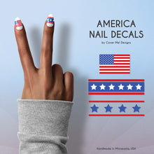 Load image into Gallery viewer, american flag nail decals