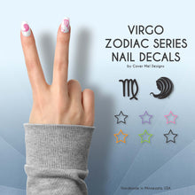Load image into Gallery viewer, virgo zodiac series nail decals