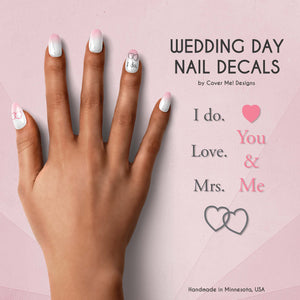 wedding day nail decals
