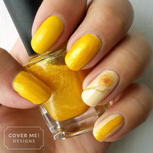 Load image into Gallery viewer, yellow flower nail art