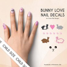 Load image into Gallery viewer, bunny love kids nail decals