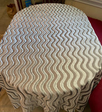 Load image into Gallery viewer, Grey Velvet Wave Tablecloth