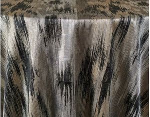 Silver/Black Dynamic Fabric Tablecloth