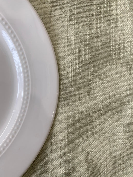 Pale Green Linen Fabric
