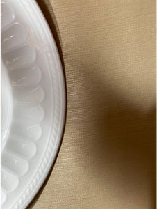 Gold Linen Faux Leather Tablecloth