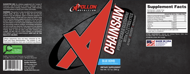 Apollon Nutrition Chainsaw Blue Bomb