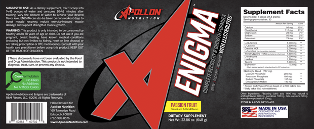 Apollon Nutrition Enigma Passionfruit