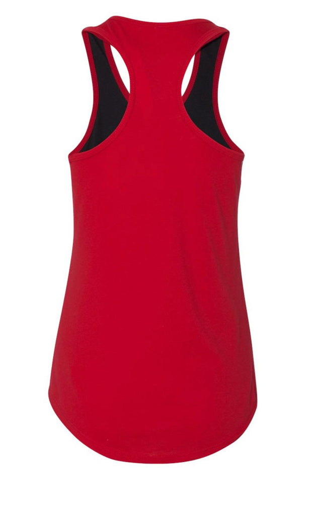 Black:Red Tank Top Back
