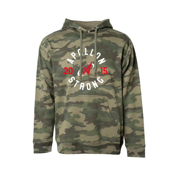 Apollon Strong Camo Lightweight Unisex Hoodie