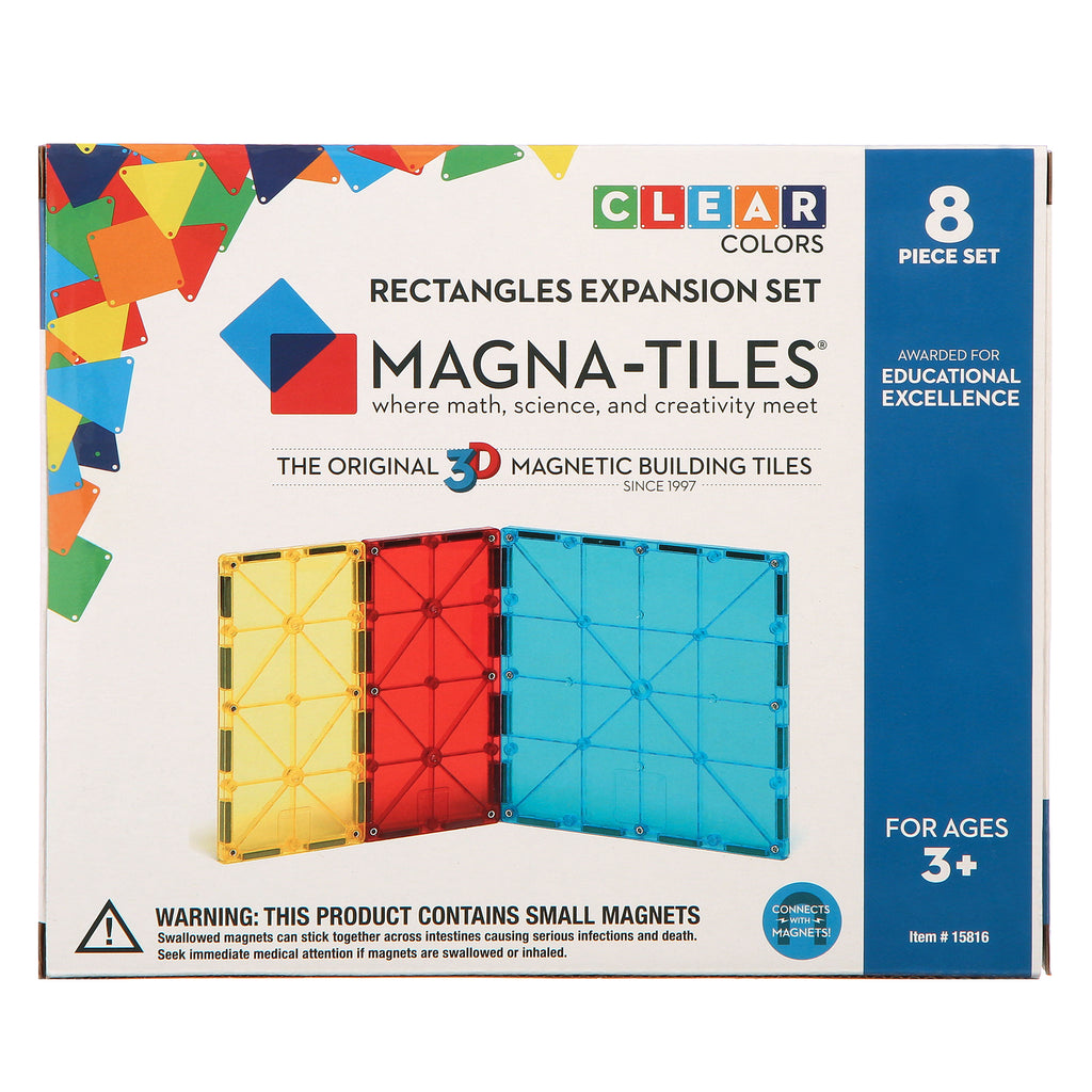 Magna-Tiles Rectangles Expansion Set - Genius Gems