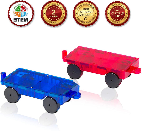 Playmags 2 Piece Car Set - Genius Gems