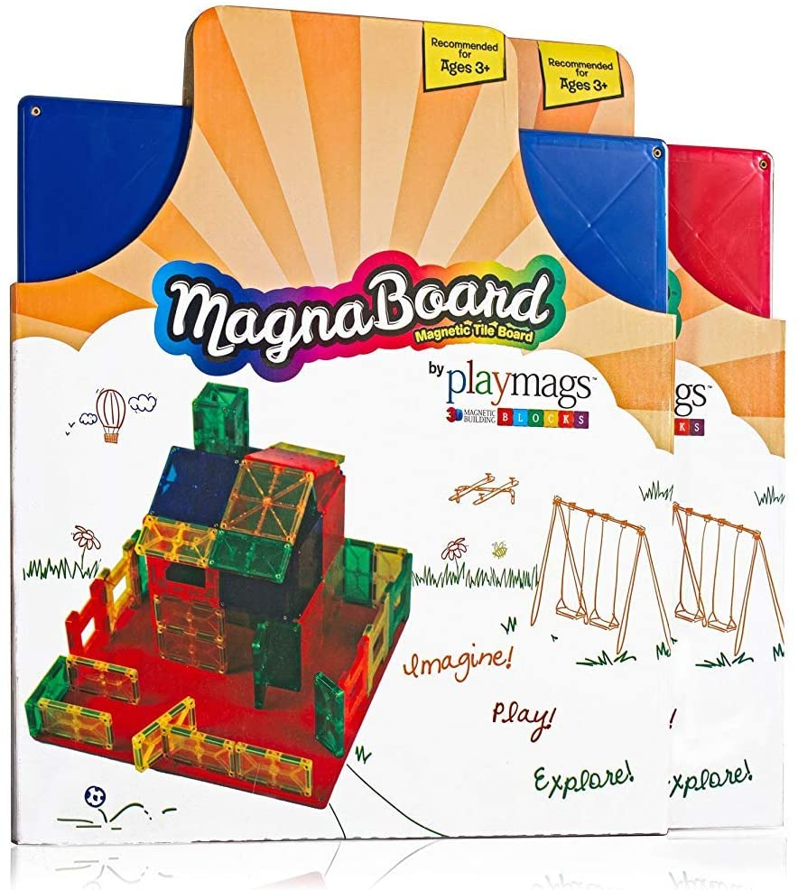 Playmags Building Board - Magnetic Starting Building Plate - Genius Gems