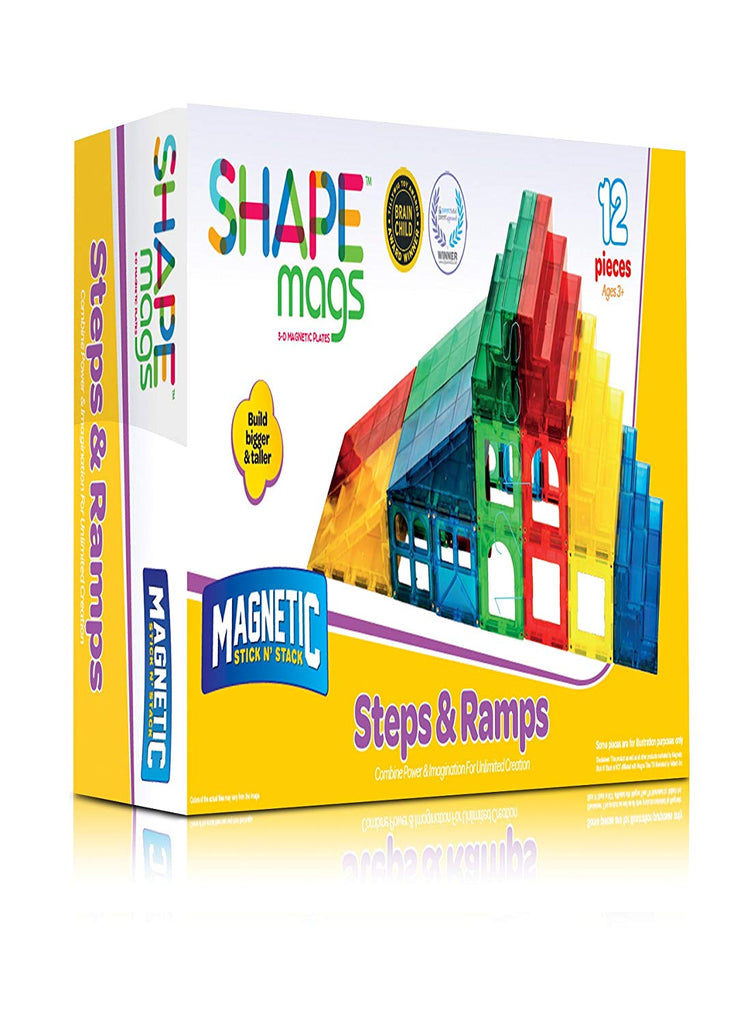 Magnetic Stick N Stack 12 Piece Steps & Ramps Set - Genius Gems