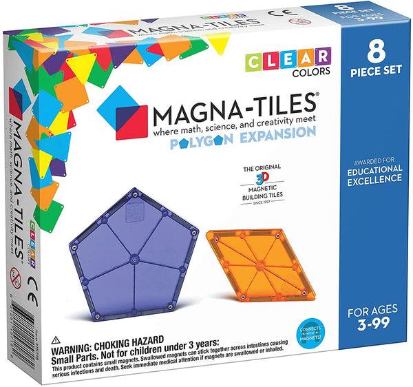 Magna-Tiles 8 Piece Polygons Expansion Set - Genius Gems