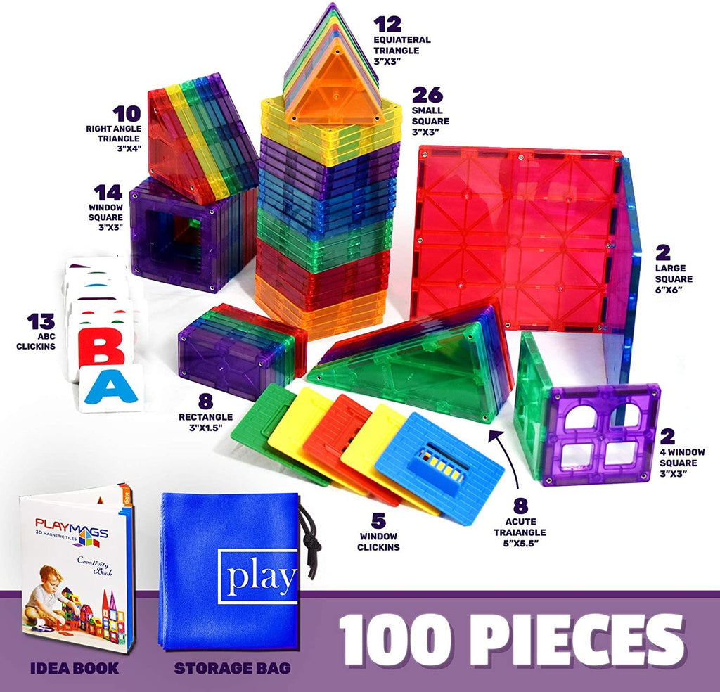 Playmags Set of 100 - Genius Gems