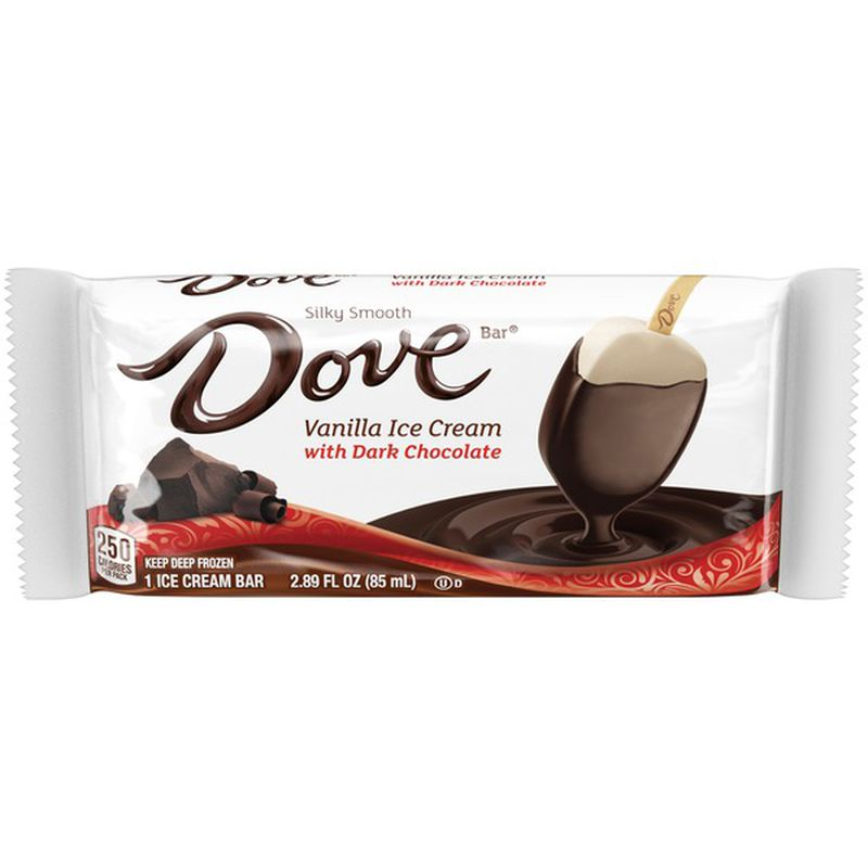 Dove Vanilla Ice Cream Bar with Dark Chocolate (U) (D) - Genius Gems