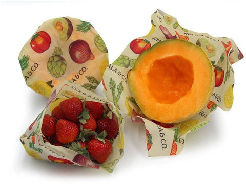 Reusable Vegan Wax Food Wraps- Multiple Sizes