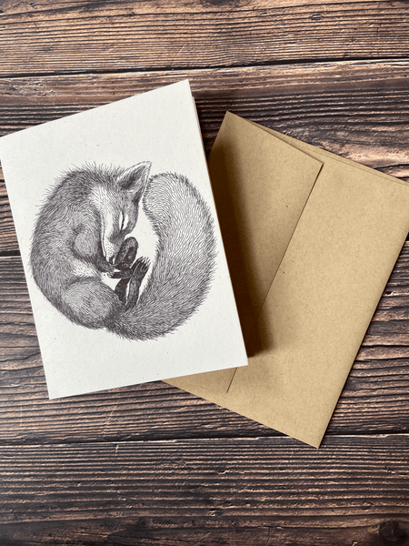 Fox & Comet Recycled Notecards by Magda Boreysza