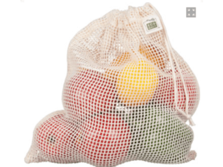 Organic Cotton Mesh Drawstring Produce Bags- Multiple Options!