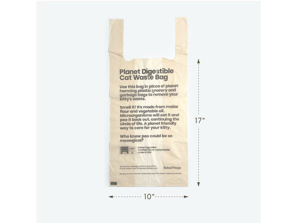 Compostable Cat Litter Bags- Bundle of 50