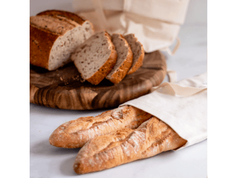 Cotton Baguette Bread Bag, New Sustainable