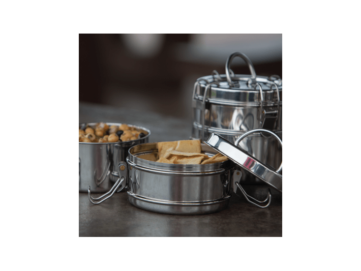 Stainless Steel Snack Stack Lunchbox (Tiffin)