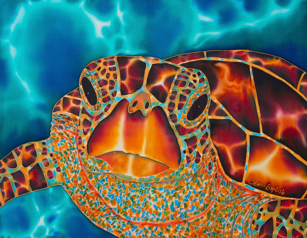 Painting - Amitie Marigot Bay Sea Turtle - 16