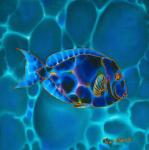 "Painting - Blue Tang - 12"" x 12"""