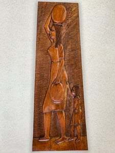 Wood Carving - Lady and Child